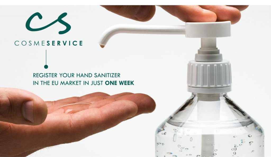 Register your Hand Sanitizer in Europe in 1 week